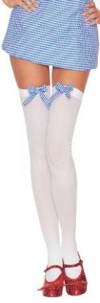 Чорапи със силикон - декорирани с панделка