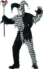 Карнавален костюм Шут- Черно и Бяло
