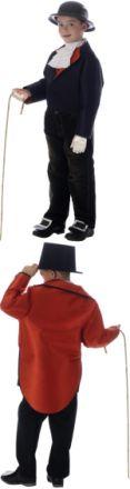 Детски костюм - Фрак - двулицев /черно и червено/