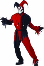 Карнавален костюм Шут- Черно и Червено
