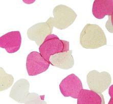 Конфети - Сърчица хартиени: бяли и розови