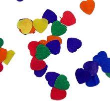 Конфети - Сърчица хартиени: разноцветни