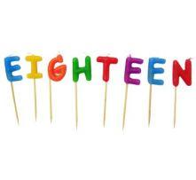 Свещи за Осемнадесети Рожден Ден на клечки