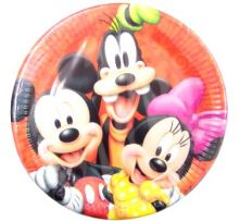Картонена чиния с Мики Маус  и приятели 10бр, 23см