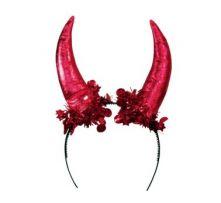 Рога за Глава сатенени - червени