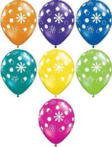 Балони с Цветчета  асорти  11'' (28см.)
