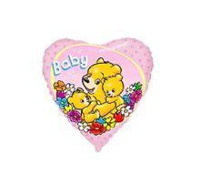 "Сърце с цветя, мечета и надпис Baby  18""- 45 см."