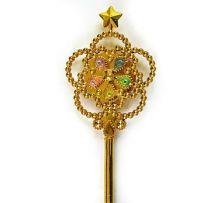 Вълшебна пръчица със звезда  - светеща, златиста