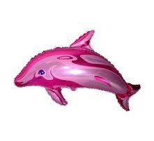 """Делфин - розов  24""""- 60 см."""