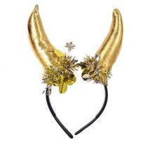 Рога за Глава сатенени - златисти