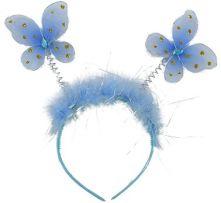 Диадема с пеперуди сини с декорация