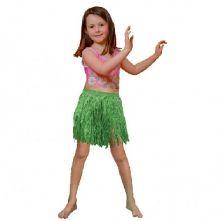 Хавайска детска пола - зелена