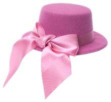 Мини шапка елегантна  - розова