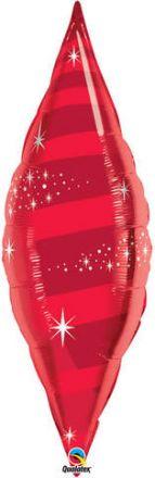 """Балон конус 38"""" - 97см. Червен - металик"""