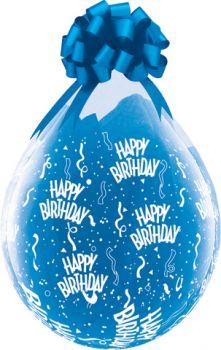 """Балони за подаръци с надпис Happy Bartday  18"""" - 45см"""
