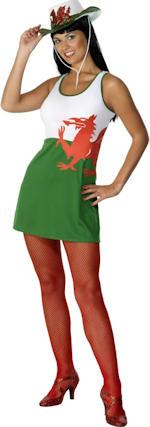 Костюм - Уелския флаг