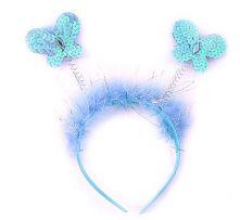 Диадема с Пеперудки с пайети - сини
