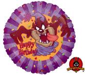 "Фолиен балон с надпис  Happy Birthday    18""- 45 см."