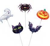 """Хелоуински балони за клечка 9""""- 23 см."""