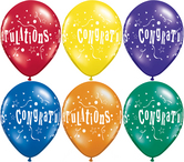 Балони с надпис Congratulations асорти  11'' (28см.)