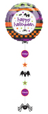 "Балон с надпис Happy Halloween   24"" x 54"" - 61см х 137см."