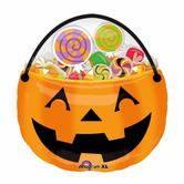 """Голям фолиен балон Хелоуинска тиква 23""""-58см х 21""""-53см."""