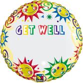 """Фолиен балон с надпис Get well с възможност да се изпише и име 18""""- 45 см."""