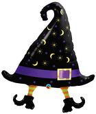 """Голям фолиен балон Вещерска шапка с крака 36""""-91см"""