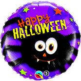 "Фолиен балон с паяк и надпис Happy Halloween 18""- 45см."