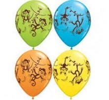 Балони с Маймунки асорти  11'' (28см.)