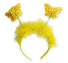 Диадема с Пеперудки жълти