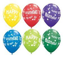 Балон Happy Birthday to you  с ноти - музикален (Честит Рожден Ден) 11'' (28см.)