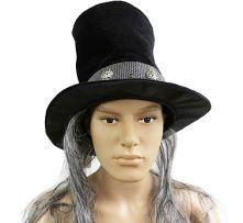 Магьосническа шапка с коса- черна