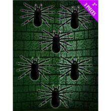 Паяци брокатени 3бр. за украса 11см х 8см.