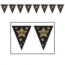 Украса за Парти - гирлянд с надпис: VIP  3.7m x 25cm