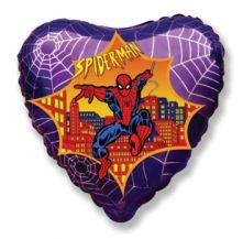 "Сърце фолио със Spiderman Спайдермен  18""- 45 см."