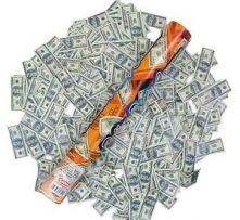 Конфети с Долари 27.5см.
