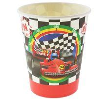 "Картонени чаши с Рали ""Race Fun"" -  270ml/6бр."
