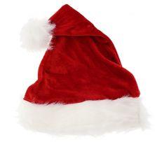Коледна шапка - велурена