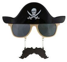 Очила с Мустаци и имитация на Пиратска шапка