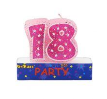 Свещи за Осемнадесети Рожден Ден на клечки - розови
