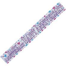 "Надпис за Годишнина ""Happy Anniversary"" - холограмен"