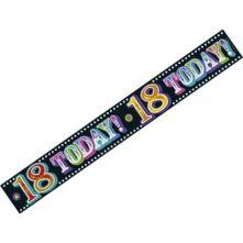 Украса за Рожден Ден  18 години с надпис: Happy 18 Today 3м.