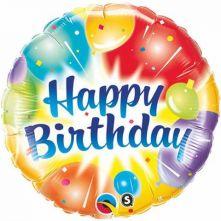 """Балон с балони и надпис Happy Birthday  18""""- 45 см."""