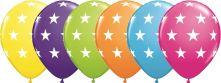 Балони със звезди асорти  11'' (28см.)