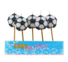 Свещи с футболни топки 5бр.