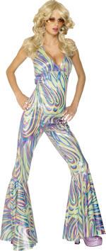 Костюм Кралицата на диското Disco Dancing Queen 70-те
