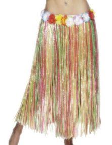 Хавайска пола дълга многоцветна