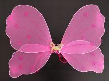 Криле на пеперуда с вълшебна пръчка и диадема с пеперудки - розови