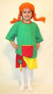 Карнавален костюм - Пипи Дългото чорапче.